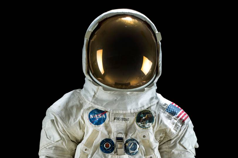Photo of Neil Armstrong Spacesuit