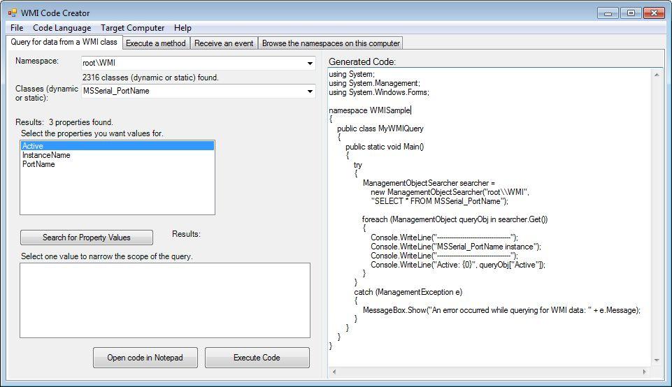 Windows Management Instrumentation (WMI) | LieberLieber Modelling Expert