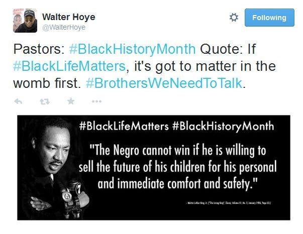 Walter Hoye Black Lives Matter womb first Black History 2275114159920177206_n
