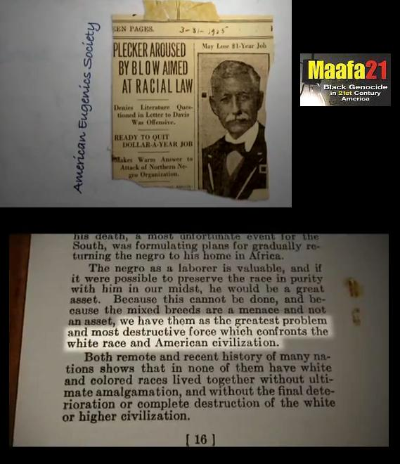Walter Ashby Plecker Eugenics racism Quote