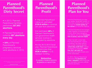 Planned Parenthood Student for Life Banners