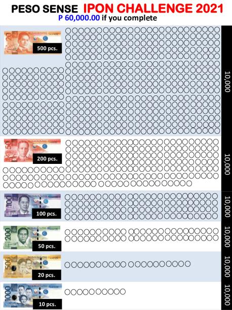 2021 Printable Peso Sense Ipon Challenge
