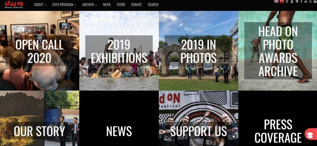 HeadOn Photo Festival Website Screenshot