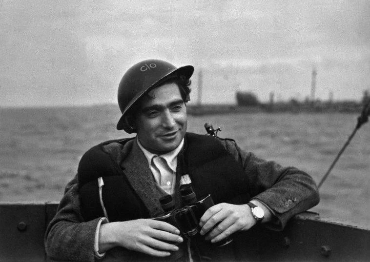 Portrait of Robert Capa in D Day. An all time great photographer