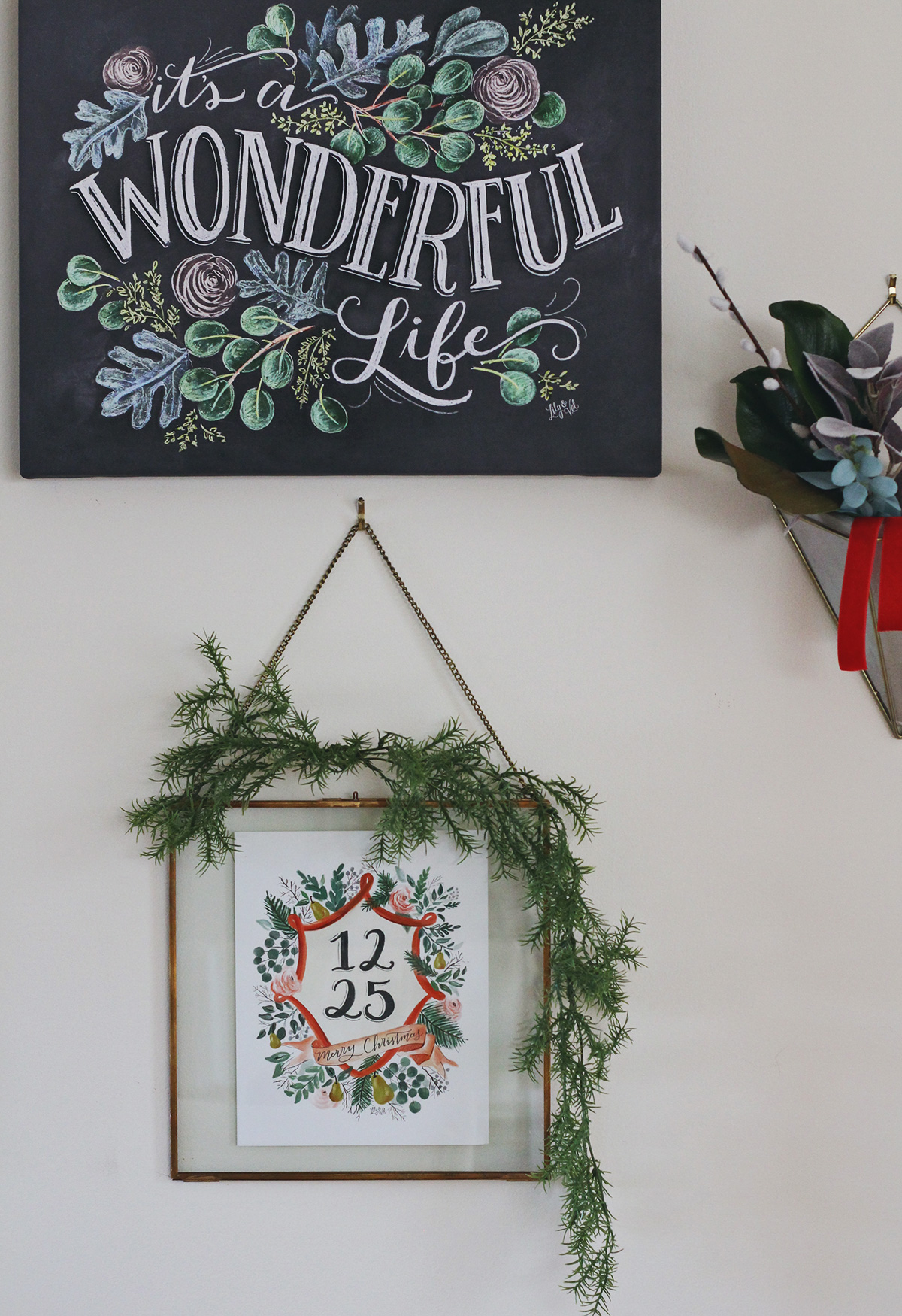 How To Use A Hearth Amp Hand Brass Frame From Target To Make This Holiday Wall Hanging Lily