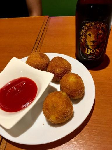 かトゥレットとライオンラガービール