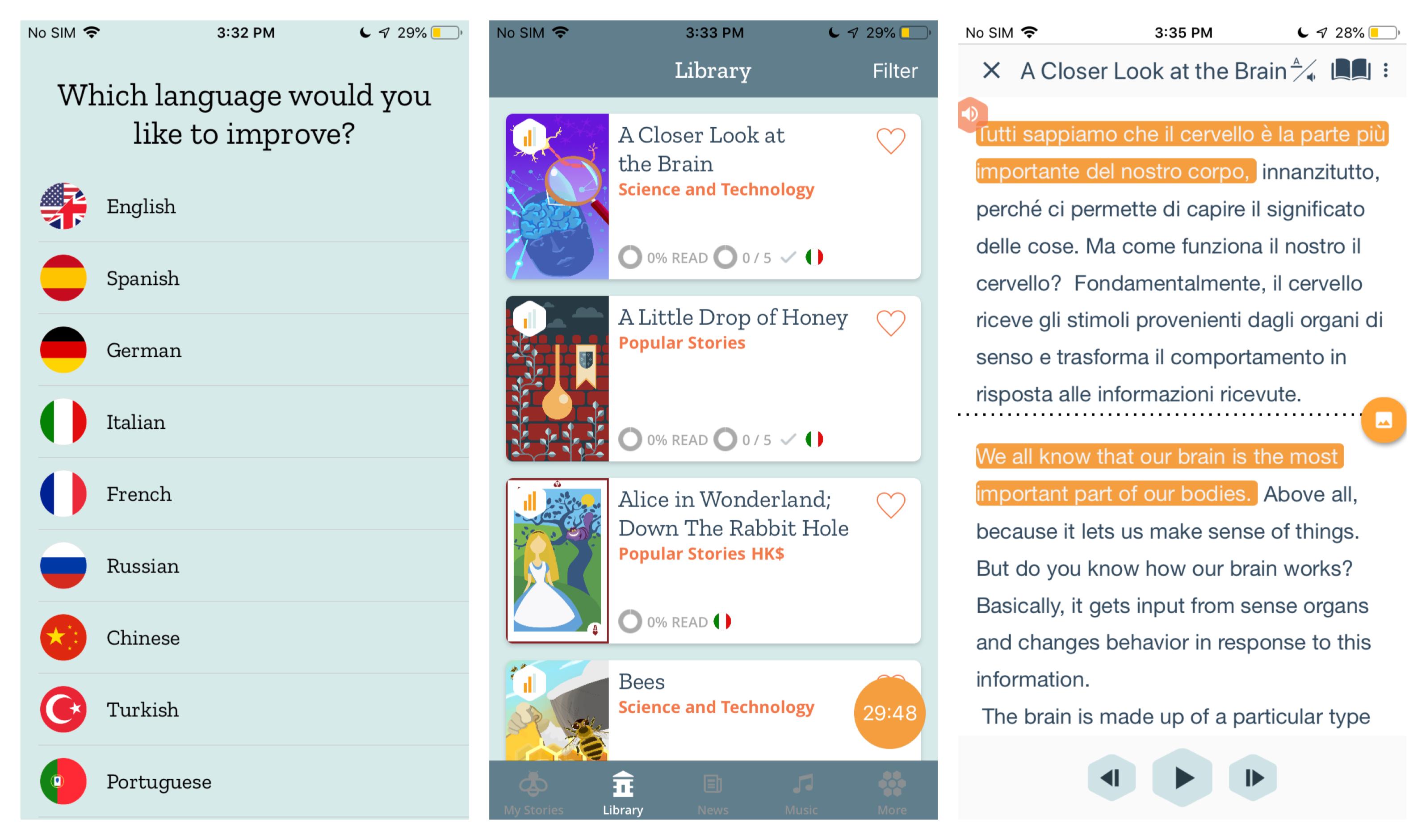 Beelinguapp screenshots
