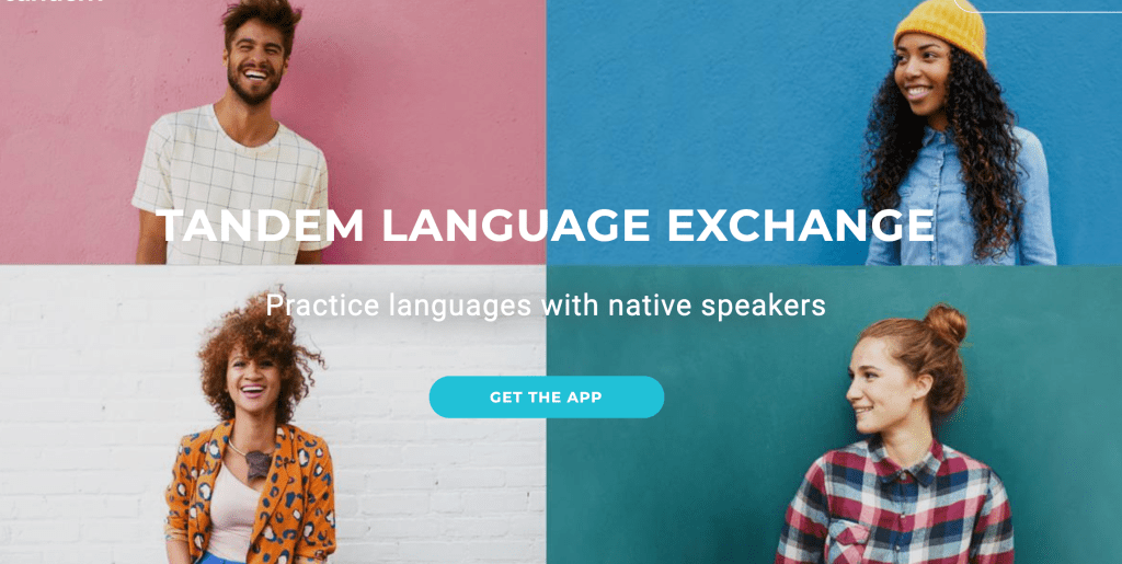 tandem language exchange app