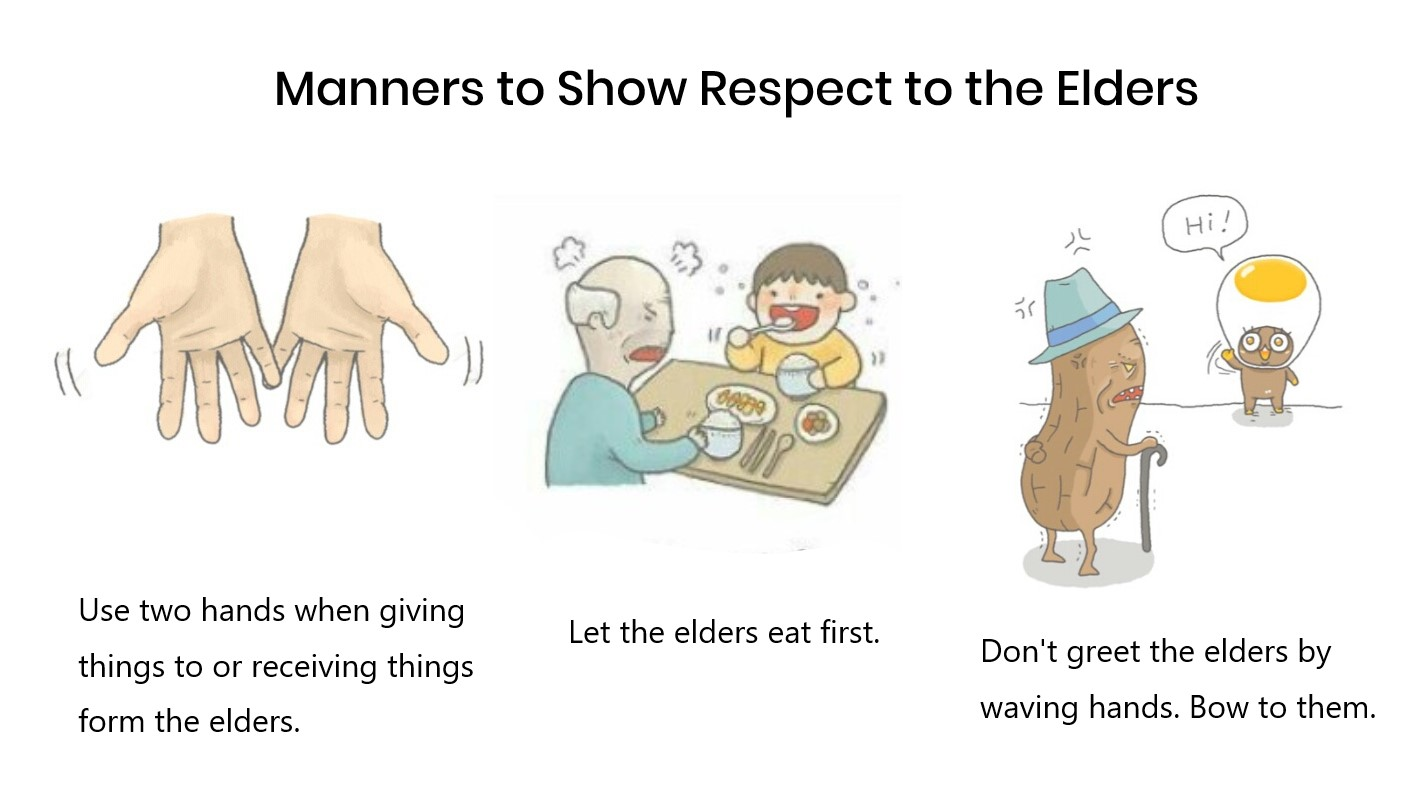 Korean age system: Korean manners to show respect to the elders