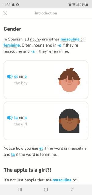 Duolingo Spanish Review grammar