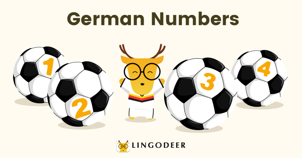 how to count in German
