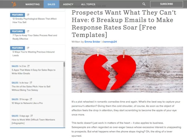 Break Up Emails by Web Marketing Agency