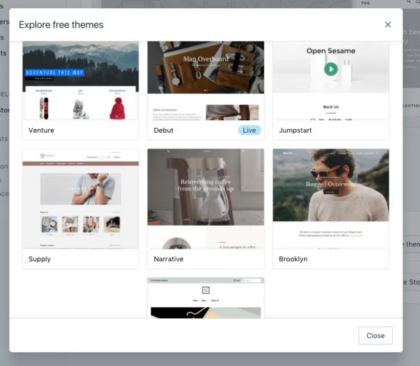 How to setup a shopify store - themes