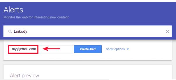 google alerts step 3