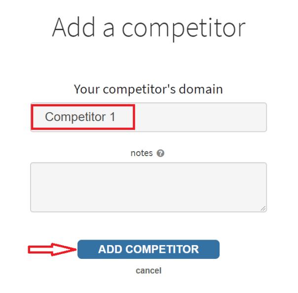 adding a competitor