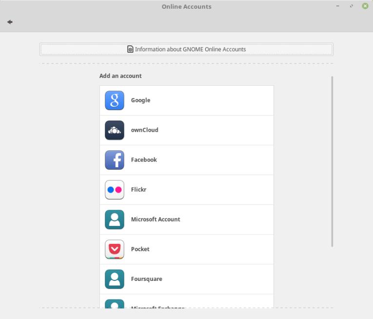 учетные записи GNOME