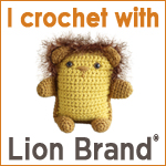 I crochet with Lion Brand