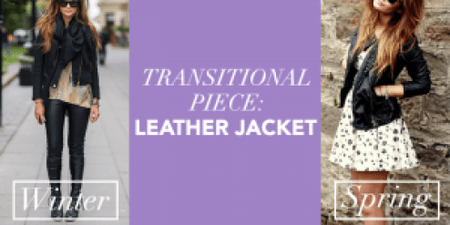 Transitional piece Leather Jacket