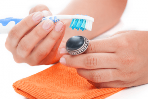 How to clean your costume jewelry with a toothbrush