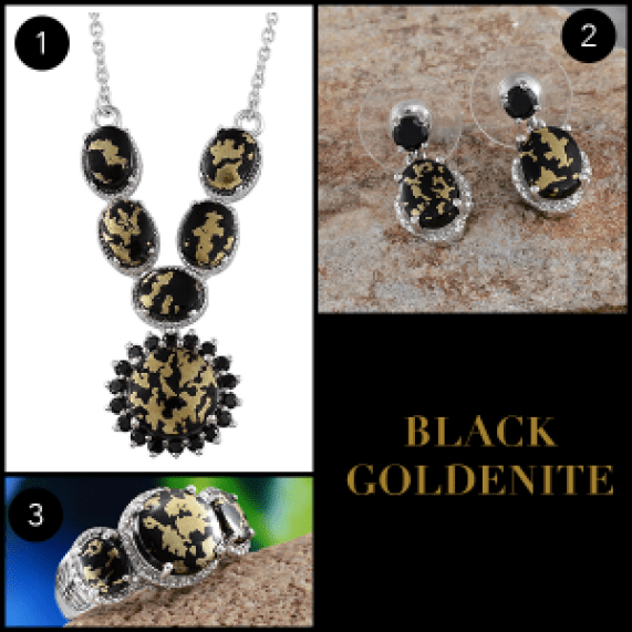 Rare and Exotic Gemstones - Black Goldenite