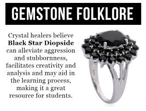 Rare and Exotic Gemstones - Indian Black Star Diopside - Gemstone Folklore