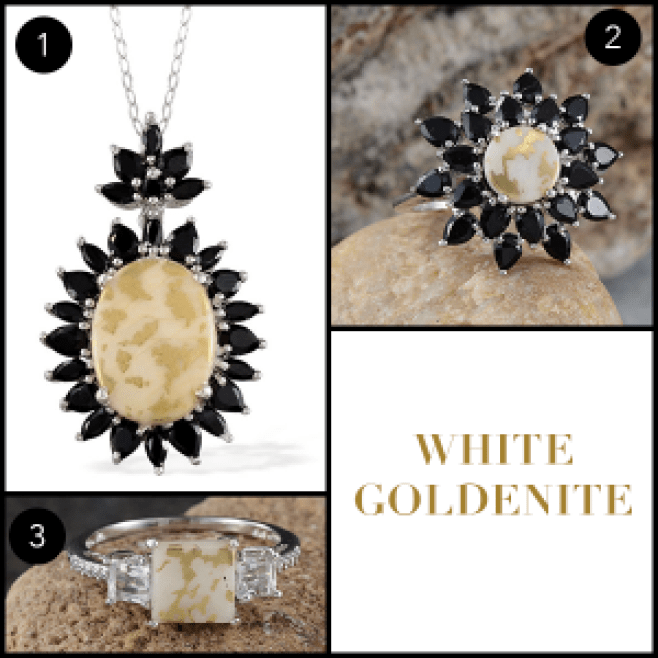 Rare and Exotic Gemstones - White Goldenite