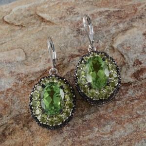 August Birthstone Peridot - Peridot Earrings