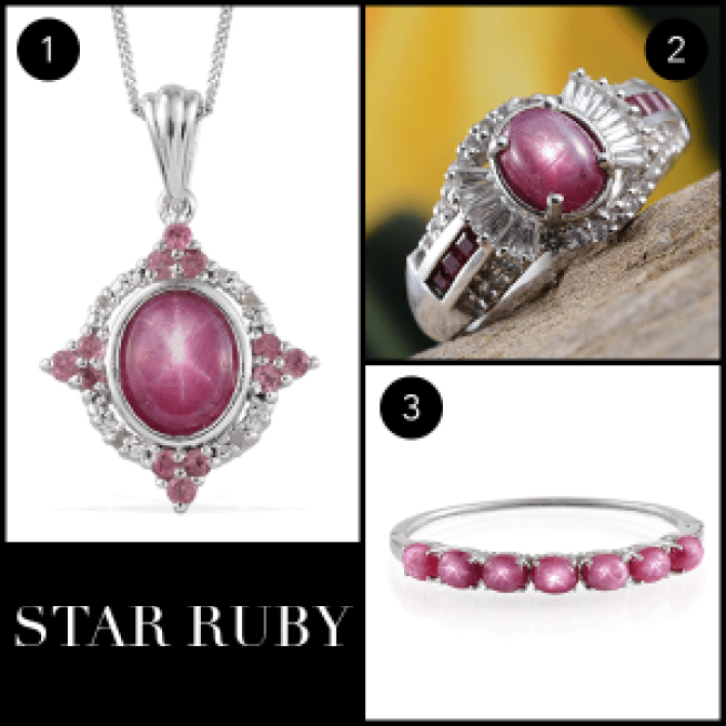 Rare and Exotic Gemstones - Star Ruby Collage
