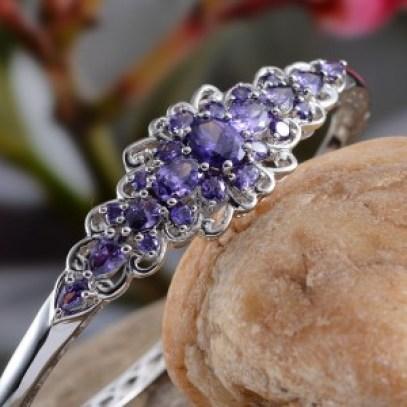 DIY: Stacked Bracelets - Simulated Purple Sapphire Bangle