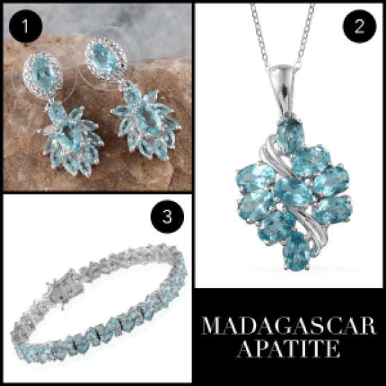 Rare and Exotic Gemstones - Madagascar Apatite Collage