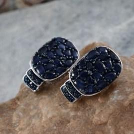 September Birthstone - Sapphire Earrings