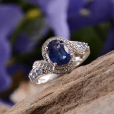 Rare and Exotic Gemstones - Himalayan Kyanite Ring