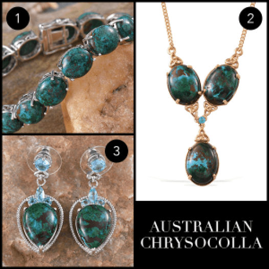 Rare and Exotic Gemstones - Australian Chrysocolla Collage