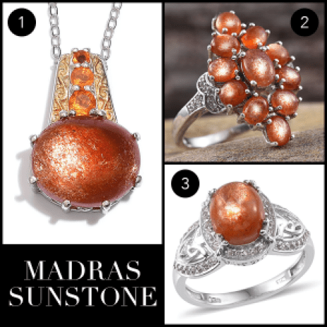 Rare and Exotic Gemstones - Madras Sunstone Collage