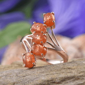Rare and Exotic Gemstones - Madras Sunstone Ring