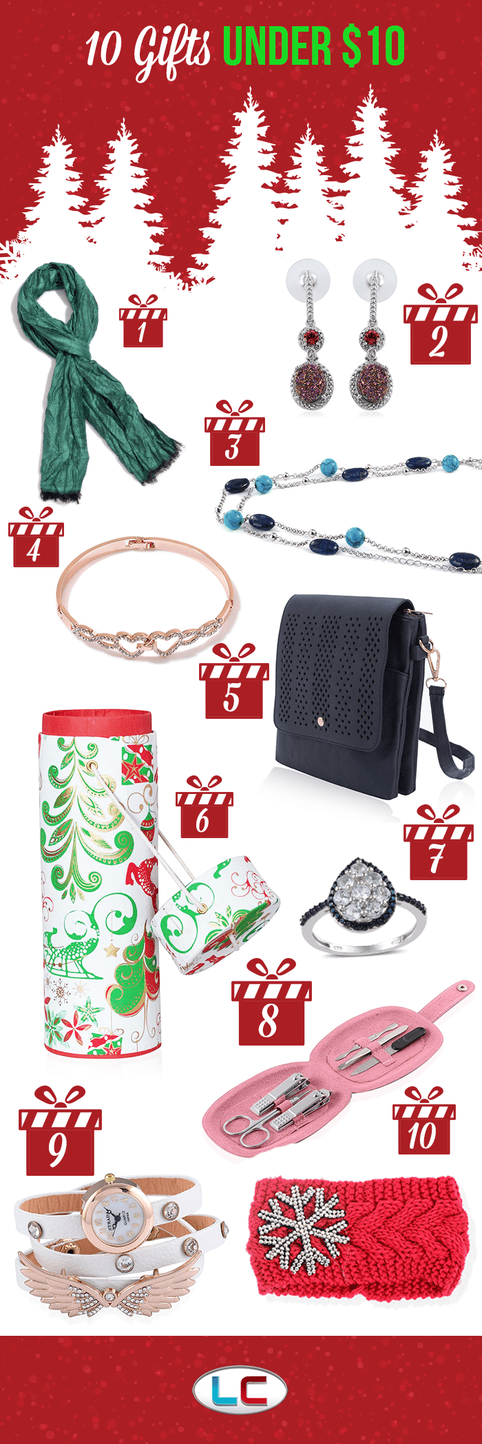 Let your LC help as you shop for under 10 dollars gifts!