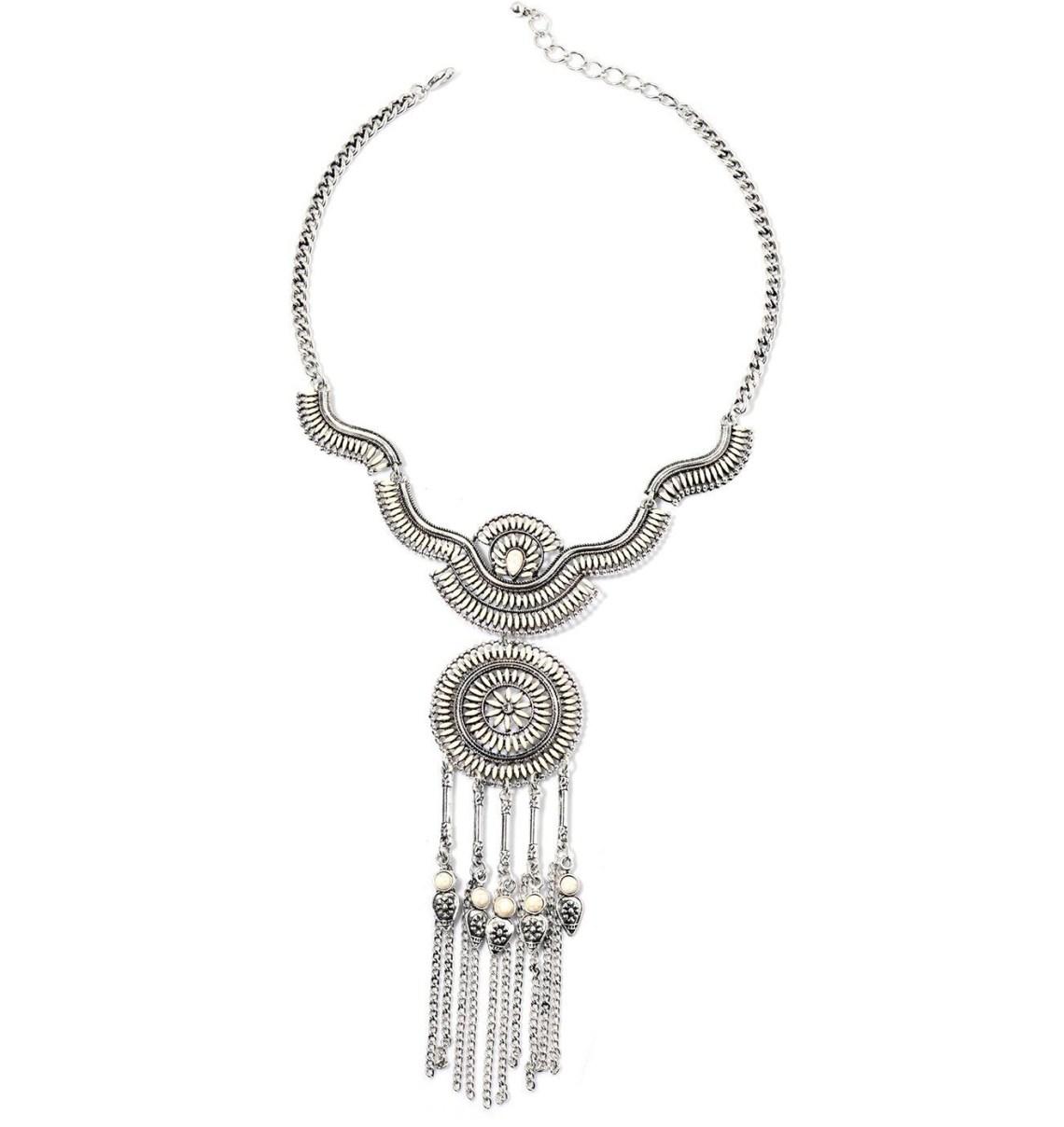 Fashion Week Roundup Jewelry - Silvertone Statement Necklace