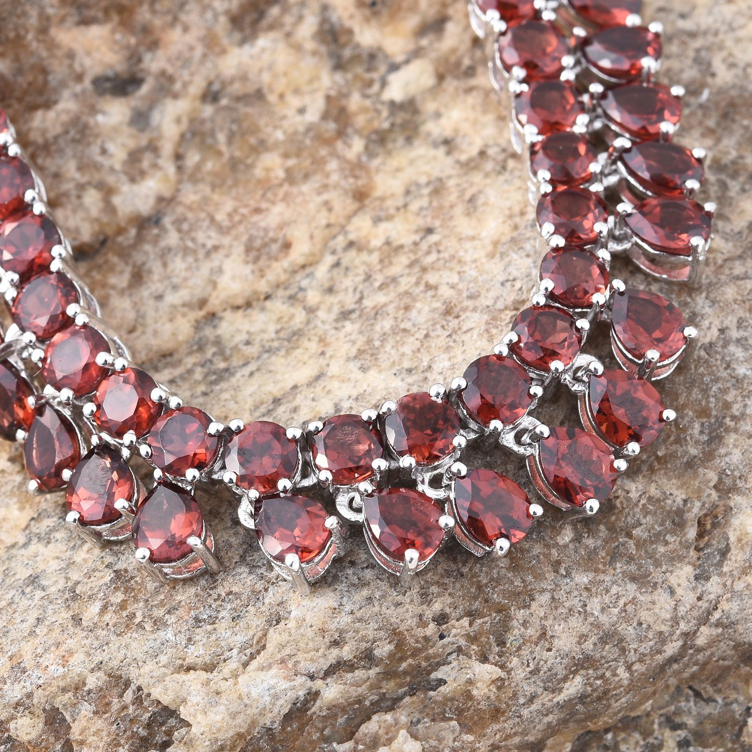 the necklace royal opals pomegranate ethiopian semi and precious with red design garnet gemstone
