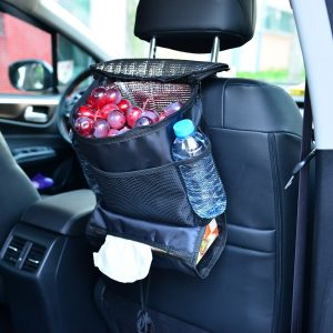 Get organized with backseat car organizer.