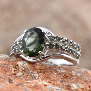 Bohemian Moldavite Ring