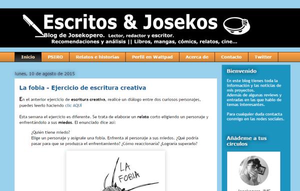 Blogs literarios: Josekopero