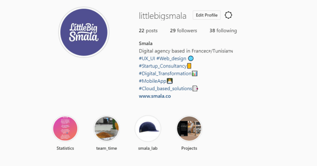 A screenshot from Little Big smala Instagram page