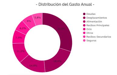 distribución del gasto anual