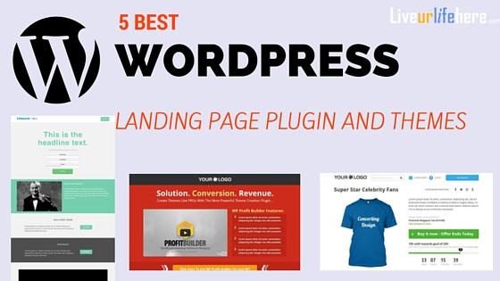 5 Best WordPress landing page plugin and themes
