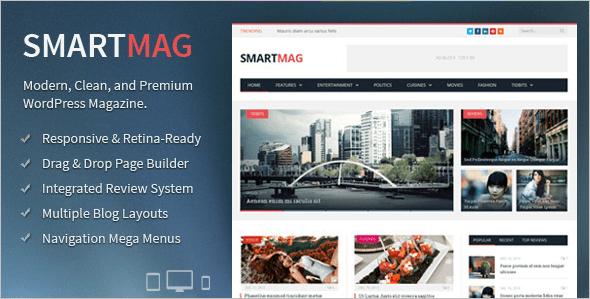 smartmag wordpress blog theme