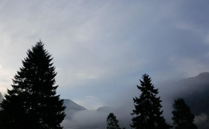 Der Morgennebel lichtet sich