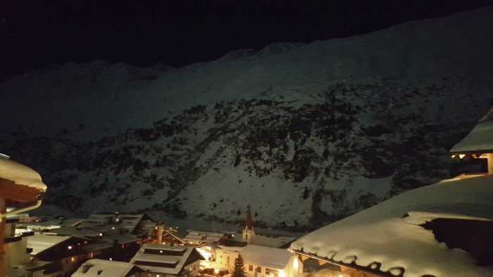 Sternenklare Nacht über Obergurgl