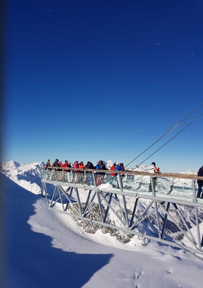 Tiefenbachgletscher Aussicht auf die Wildspitze