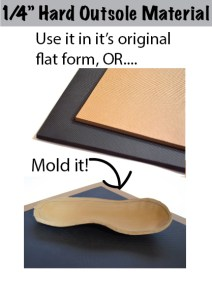 Make a Custom Moldable Sole for Your Handmade Shoes!