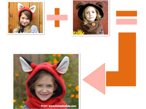 Combine Free Fox Ears Pattern with Bear Hoodie to make a Fox Hoodie